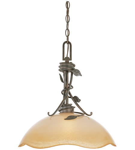 Designers Fountain Timberline 1 Light Pendant in Old Bronze 95632-OB photo
