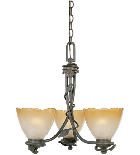 Designers Fountain 95683-OB Timberline 3 Light 18 inch Old Bronze Chandelier Ceiling Light photo