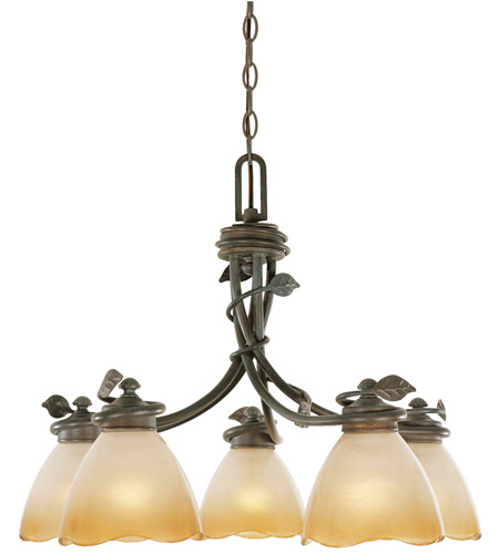 Designers Fountain Timberline 5 Light Chandelier in Old Bronze 95686-OB photo
