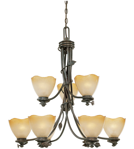 Designers Fountain Timberline 9 Light Chandelier in Old Bronze 95689-OB photo