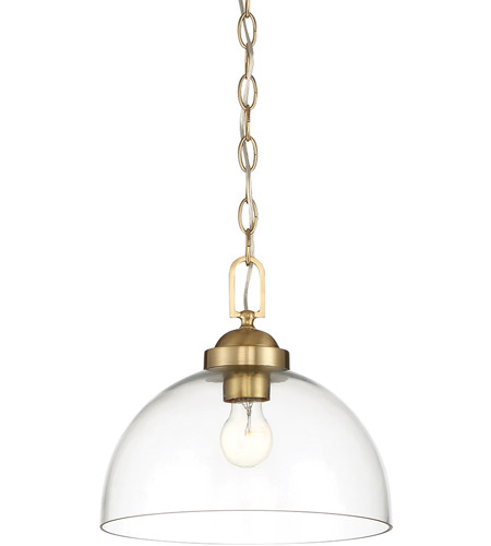 Designers Fountain 95932-BG Knoll 1 Light 12 inch Brushed Gold Pendant Ceiling Light photo thumbnail