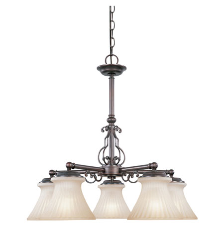 Designers Fountain Asbury 5 Light Chandelier in Tuscana 95985-TU photo