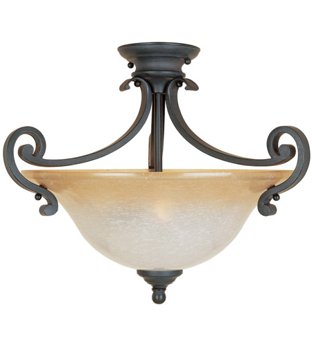 Designers Fountain 96111-NI Barcelona 2 Light 120 Natural Iron Semi-Flush Ceiling Light photo