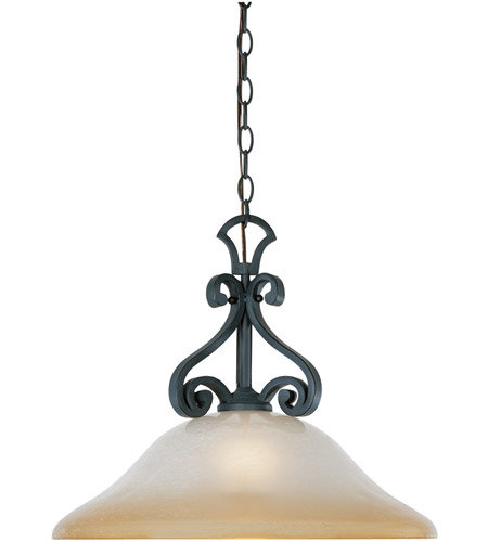 Designers Fountain Barcelona 1 Light Pendant in Natural Iron 96132-NI photo