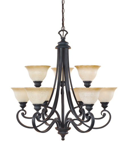 Designers Fountain 96189-NI Barcelona 9 Light 31 inch Natural Iron Chandelier Ceiling Light photo