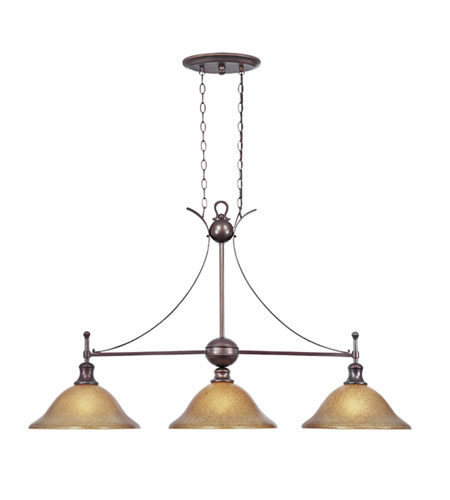 Designers Fountain Torrance 3 Light Island Pendant in Tuscana 96438-TU