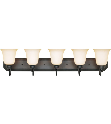Designers Fountain 96905-ORB Montego 5 Light 37 inch Oil Rubbed Bronze Bath Bar Wall Light in Satin Bisque photo