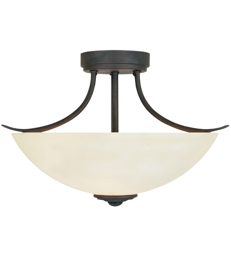 Designers Fountain 96911-ORB Montego 2 Light 120 Oil Rubbed Bronze Semi-Flush Ceiling Light in Satin Bisque photo