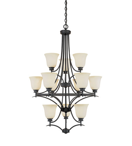 Designers Fountain Montego 12 Light Chandelier in Oil Rubbed Bronze 969812-ORB photo