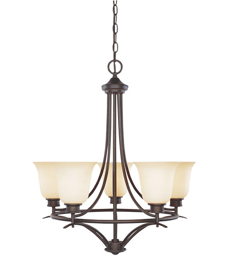 Designers Fountain 96985 Orb Montego 5 Light 23 Inch Oil Rubbed Bronze Chandelier Ceiling In Satin Bisque