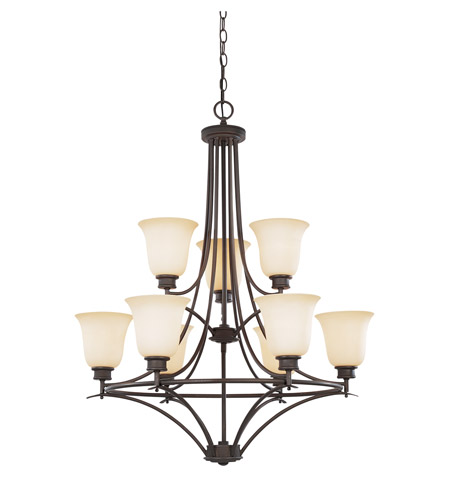 Designers Fountain Montego 9 Light Chandelier in Oil Rubbed Bronze 96989-ORB photo