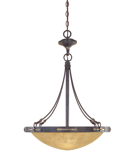 Designers Fountain Austin 3 Light Pendant in Weathered Saddle 97331-WSD photo