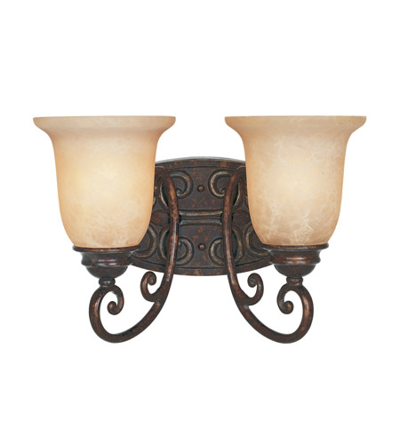 Designers Fountain Amherst 2 Light Bath Bar in Burnt Umber 97502-BU photo