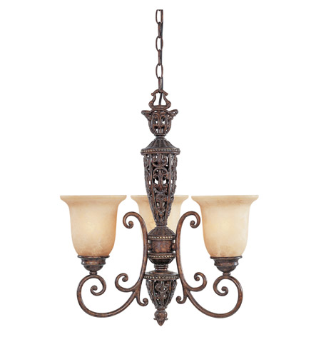 Designers Fountain Amherst 3 Light Chandelier in Burnt Umber 97583-BU photo