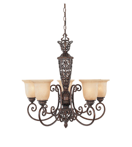 Designers Fountain 97585-BU Amherst 5 Light 28 inch Burnt Umber Chandelier Ceiling Light photo