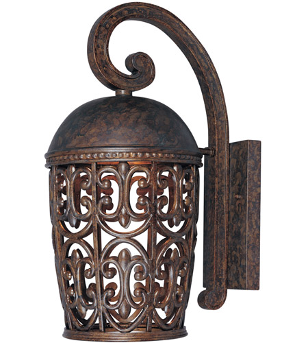 Designers Fountain 97592-BU Amherst 1 Light 18 inch Burnt Umber Outdoor Wall Lantern photo