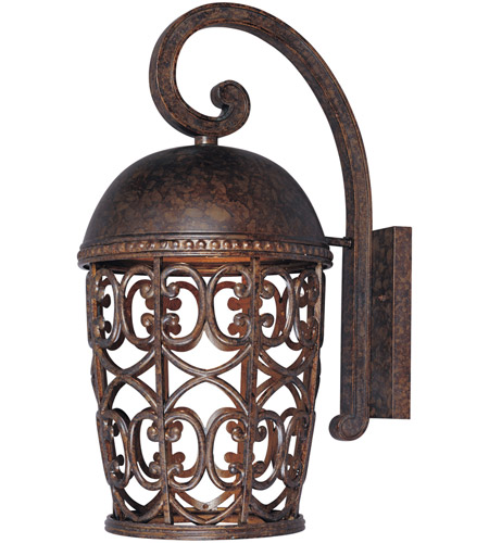Designers Fountain Amherst 1 Light Outdoor Wall Lantern (Dark Sky) in Burnt Umber 97593-BU photo