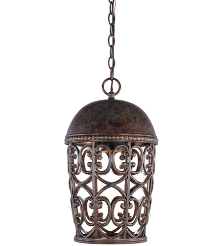 Designers Fountain 97594-BU Amherst 1 Light 10 inch Burnt Umber Outdoor Hanging Lantern photo