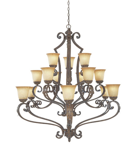 Designers Fountain Grand Palais 15 Light Chandelier in Venetian Bronze-Gold 976815-VBG photo