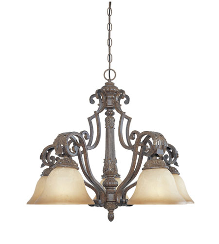 Designers Fountain Grand Palais 5 Light Chandelier in Venetian Bronze-Gold 97685-VBG photo