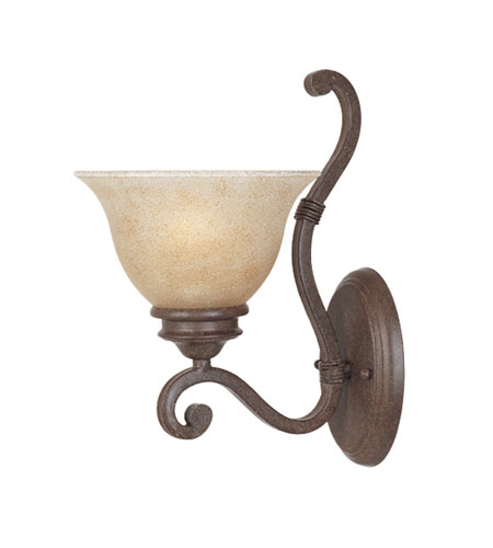 Designers Fountain Del Mar 1 Light Wall Sconce in Warm Pecan 97701-WP photo