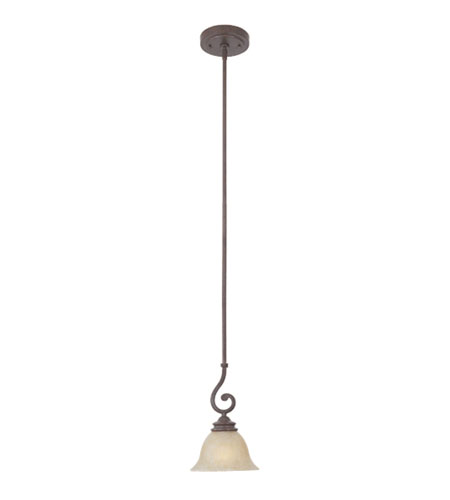Designers Fountain Del Mar 1 Light Mini Pendant in Warm Pecan 97730-WP photo