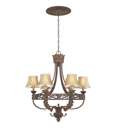 Designers Fountain Carlisle 6 Light Chandelier in Venetian Bronze-Gold 97886-VBG photo