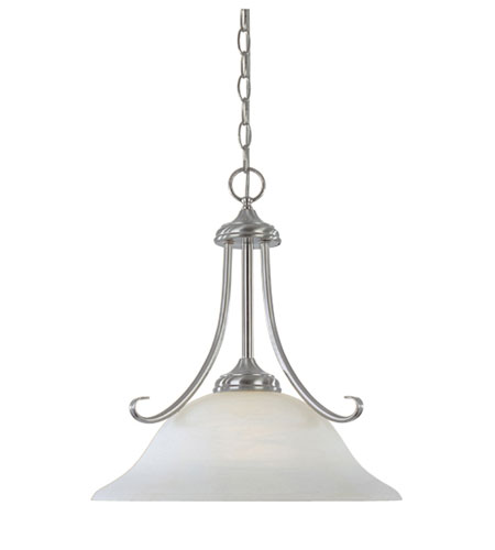 Designers Fountain Stratton 1 Light Pendant in Satin Platinum 98032-SP photo