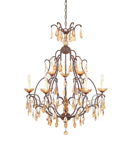 Designers Fountain 98389-VBR Bollo 9 Light 32 inch Venetian Bronze Chandelier Ceiling Light photo