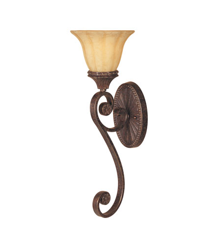 Designers Fountain Astor Manor 1 Light Wall Sconce in Burnt Umber 98707-BU photo