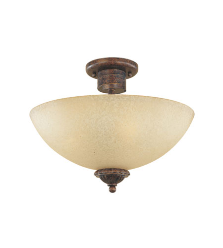 Designers Fountain Belaire 3 Light Semi-Flush in Aged Umber Bronze 99311-AUB photo