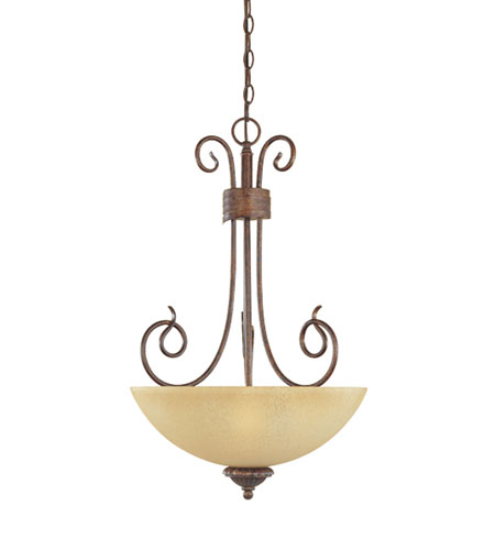 Designers Fountain Belaire 3 Light Pendant in Aged Umber Bronze 99331-AUB photo
