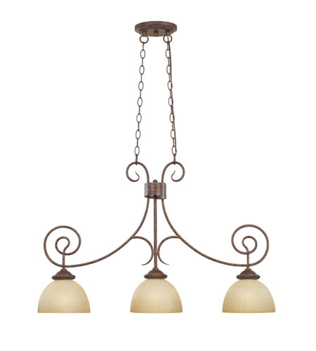 Designers Fountain Belaire 3 Light Island Pendant in Aged Umber Bronze 99338-AUB photo