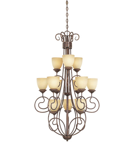 Designers Fountain Belaire 12 Light Chandelier in Aged Umber Bronze 993812-AUB photo