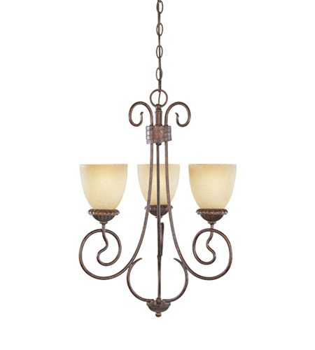 Designers Fountain Belaire 3 Light Chandelier in Aged Umber Bronze 99383-AUB photo