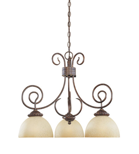 Designers Fountain Belaire 3 Light Chandelier in Aged Umber Bronze 99384-AUB photo
