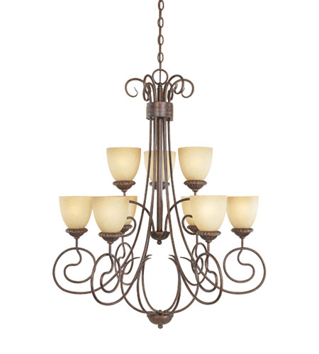 Designers Fountain 99389-AUB Belaire 9 Light 32 inch Aged Umber Bronze Chandelier Ceiling Light photo