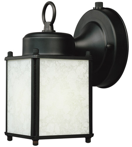 Designers Fountain Signature 1 Light Outdoor Wall Lantern in Pewter ES1161-BK photo