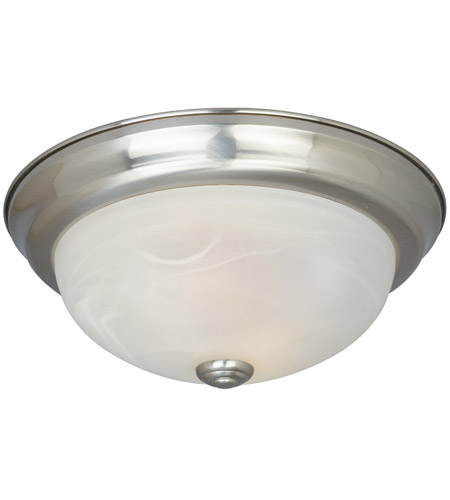 Designers Fountain ES1257L-SP-AL Lunar 3 Light 15 inch Satin Platinum Flushmount Ceiling Light photo
