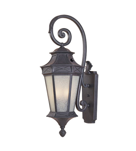 Designers Fountain Grand Court 1 Light Outdoor Wall Lantern in Russet ES20821-RST photo