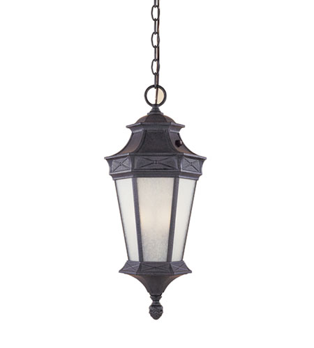 Designers Fountain Grand Court 1 Light Outdoor Hanging Lantern in Russet ES20824-RST photo