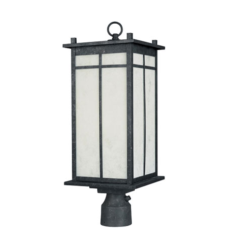 Designers Fountain Brentwood 1 Light Post Lantern in Distressed Iron ES31436-DI photo