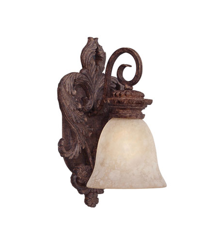 Designers Fountain San Mateo 1 Light Wall Sconce in Ancient Oak ES91400-AO photo