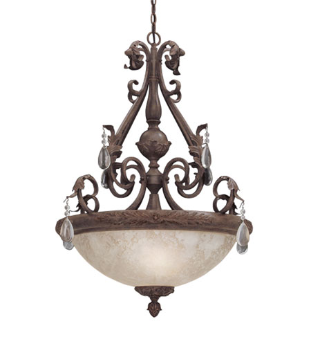 Designers Fountain San Mateo 1 Light Pendant in Ancient Oak ES91405-AO photo