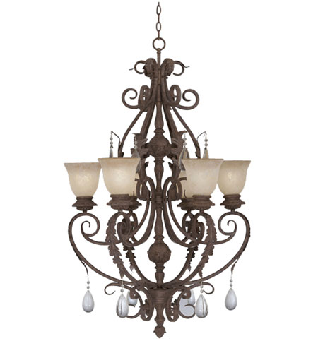 sc 1 st  Designers Fountain Lighting Lights & Designers Fountain San Mateo 6 Light Chandelier in Ancient Oak ES9146-AO