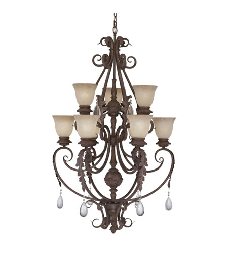 Designers Fountain San Mateo 9 Light Chandelier in Ancient Oak ES9149-AO photo