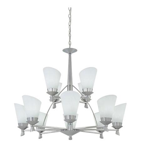 Designers Fountain Celine 12 Light Chandelier in Satin Platinum - Chrome ES970812-SPC photo
