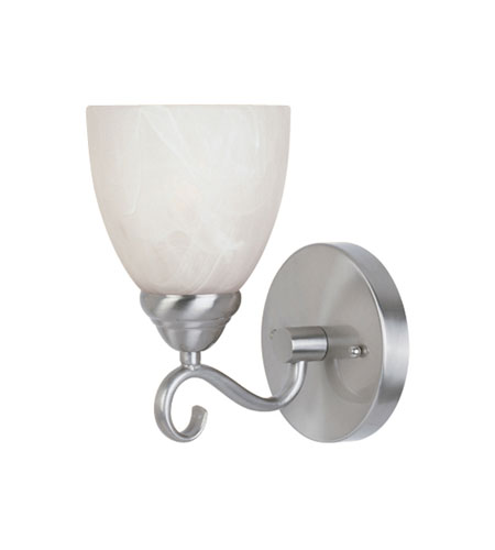 Designers Fountain Stratton 1 Light Wall Sconce in Satin Platinum ES98001-SP photo