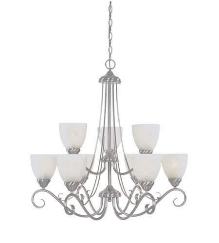Designers Fountain Stratton 9 Light Chandelier in Satin Platinum ES98089-SP photo
