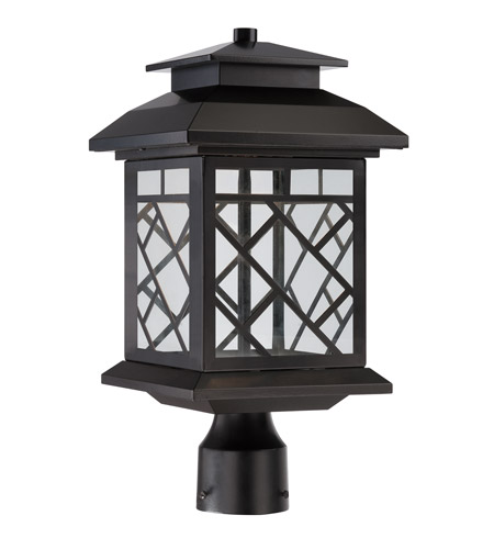 Designers Fountain LED22336-ORB Woodmere LED 17 inch Oil Rubbed Bronze Outdoor Post Lantern